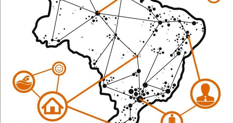 capa da publicação da LBI - Lei Brasileira de Inclusão. Na arte, o mapa do Brasil e vários círculos com símbolos de acessibilidade