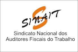 logotipo do Sindicato Nacional dos Auditores Fiscais do Trabalho, com a sigla SINAIT em letras de cor marrom escuro sobre um S em cor laranja.